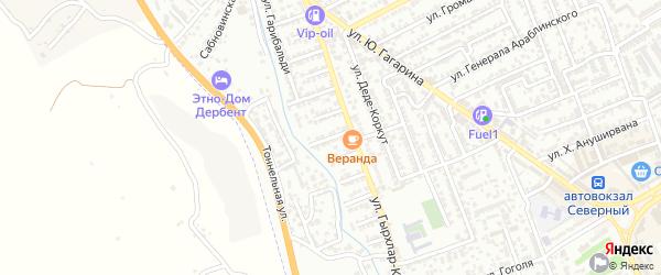 Улица Гумри на карте Дербента с номерами домов