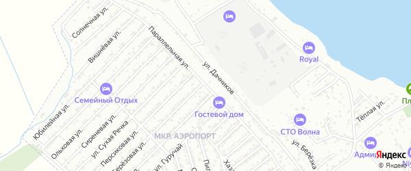 Улица Дачников на карте Дербента с номерами домов