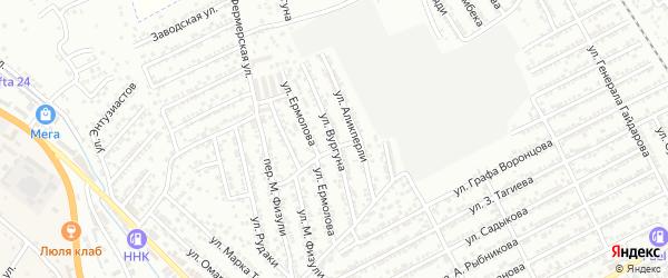 Улица С.Вургуна на карте Дербента с номерами домов