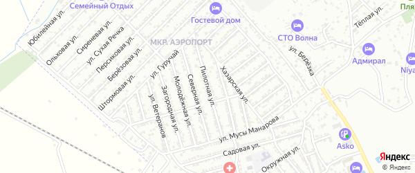 Пилотная улица на карте Дербента с номерами домов