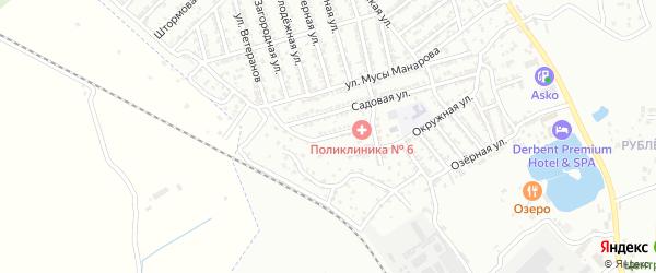 Цветочная улица на карте Дербента с номерами домов