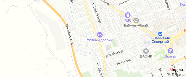 Улица Фаталихана на карте Дербента с номерами домов