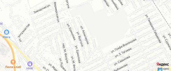Улица М.Аликперли на карте Дербента с номерами домов