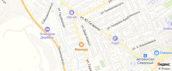 Улица Деде-Коркут на карте Дербента с номерами домов