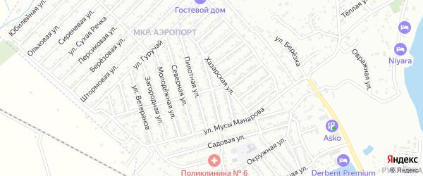 Аэропортовская улица на карте Дербента с номерами домов