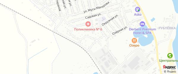 Водозаборная улица на карте Дербента с номерами домов