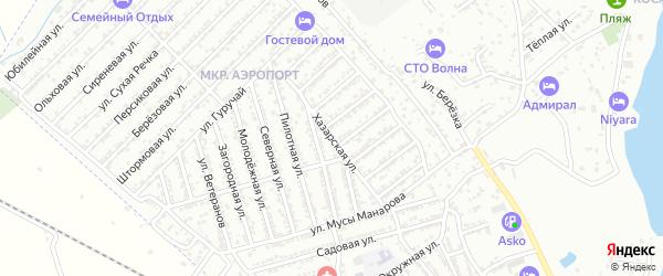 Хазарская улица на карте Дербента с номерами домов