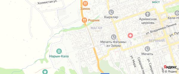 Нагорная улица на карте Дербента с номерами домов