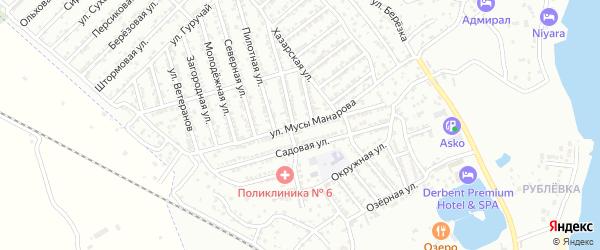 Улица М.Манарова на карте Дербента с номерами домов