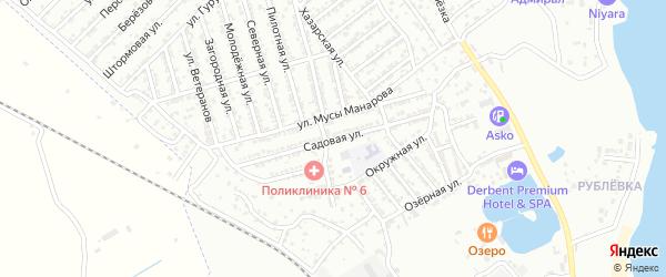 Садовая улица на карте Дербента с номерами домов