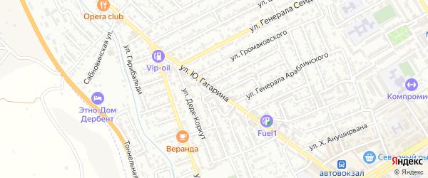 Улица Ю.Гагарина на карте Дербента с номерами домов