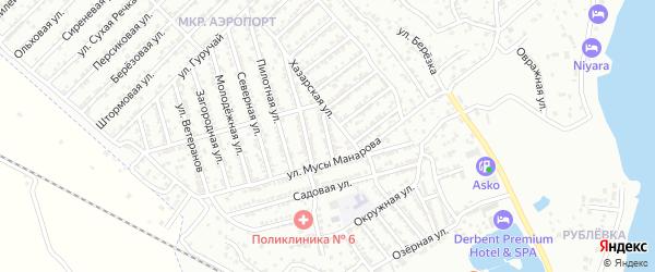Спортивная улица на карте Дербента с номерами домов