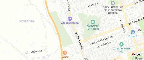 Тупик Дрожжина на карте Дербента с номерами домов