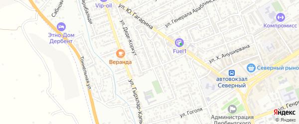 Улица Генерала Насирова на карте Дербента с номерами домов