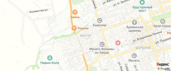Улица 6 Магал на карте Дербента с номерами домов