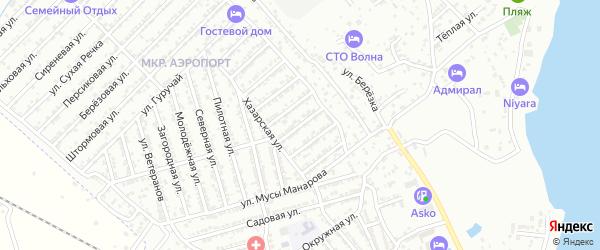 Гранатовая улица на карте Дербента с номерами домов