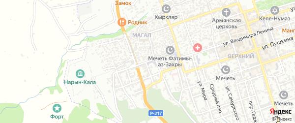 Улица Орта-Капы на карте Дербента с номерами домов