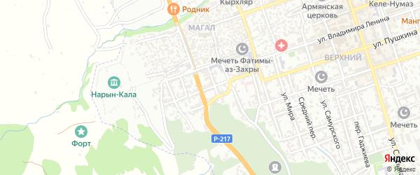 Родниковая улица на карте Дербента с номерами домов