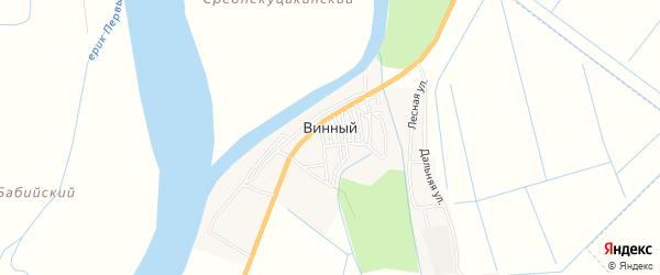 Карта Винного поселка в Астраханской области с улицами и номерами домов