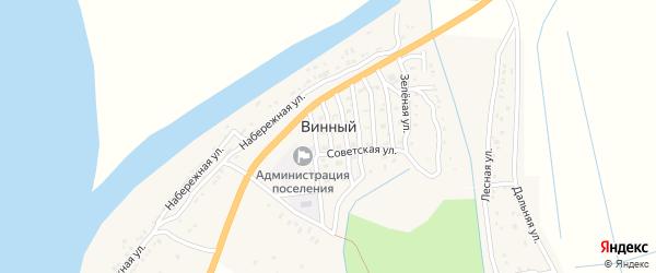 Зеленая улица на карте Винного поселка с номерами домов