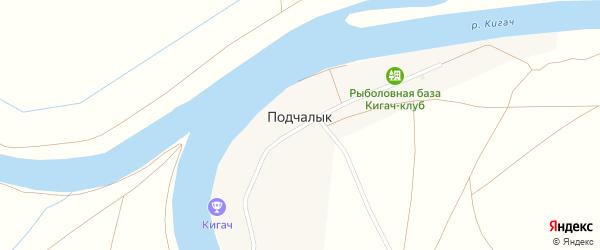 Заречная улица на карте поселка Подчалык с номерами домов