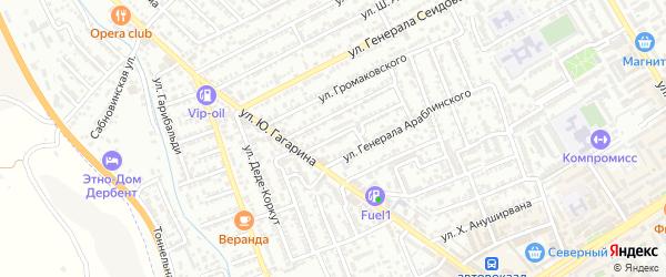 Улица У.Умурдинова на карте Дербента с номерами домов