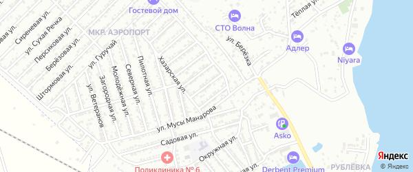 Маячная улица на карте Дербента с номерами домов
