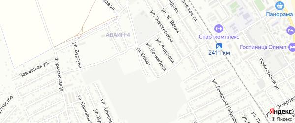 Улица Веяди на карте Дербента с номерами домов