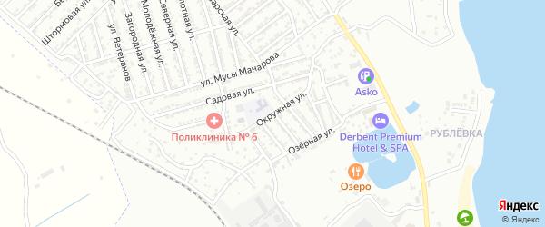 Окружная улица на карте Дербента с номерами домов