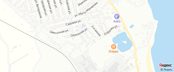 Линейная 5-я улица на карте Дербента с номерами домов