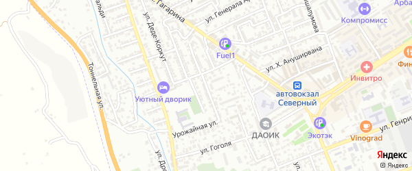 Улица Низами-Гянджеви на карте Дербента с номерами домов