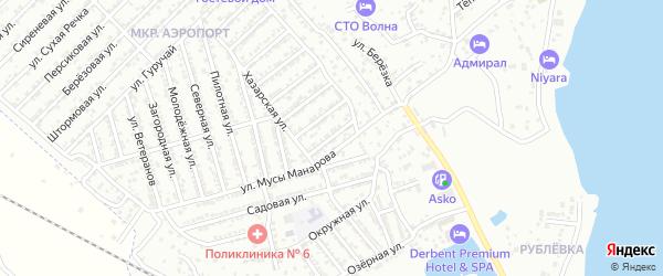Улица Связистов на карте Дербента с номерами домов