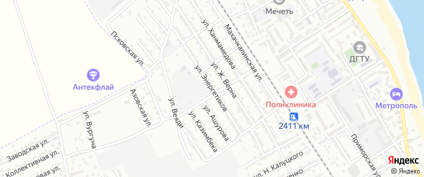 Улица Энергетиков на карте Дербента с номерами домов