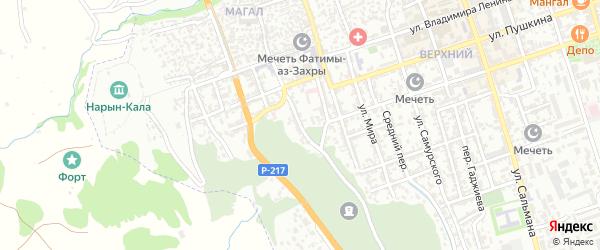 Нагорный переулок на карте Дербента с номерами домов