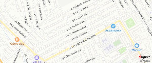 Улица Н.Нариманова на карте Дербента с номерами домов