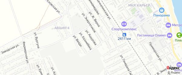 Улица Д.Ашурова на карте Дербента с номерами домов