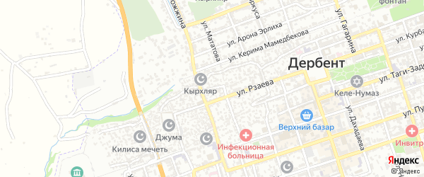 Линейная 4-я улица на карте Дербента с номерами домов
