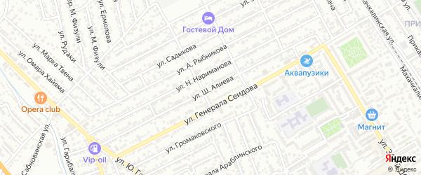 Улица Ш.Алиева на карте Дербента с номерами домов