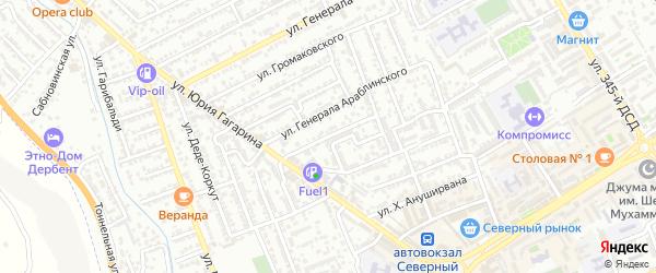 Улица М.Ярагского на карте Дербента с номерами домов