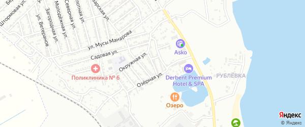 Линейная 2-я улица на карте Дербента с номерами домов