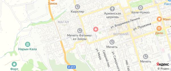 Улица Н.Крупской на карте Дербента с номерами домов