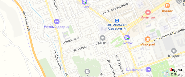 Виноградная улица на карте Дербента с номерами домов
