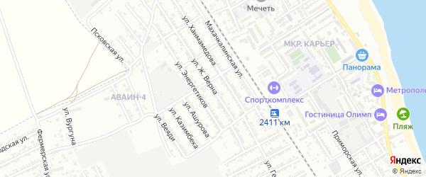 Улица Ж.Верна на карте Дербента с номерами домов