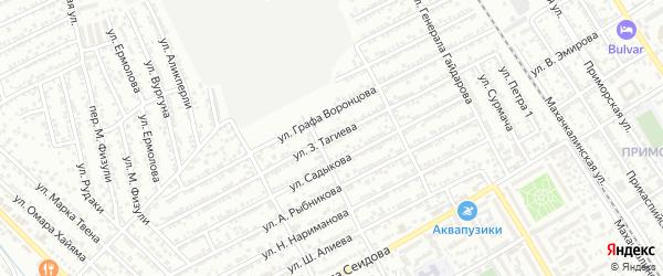 Улица З.Тагиева на карте Дербента с номерами домов