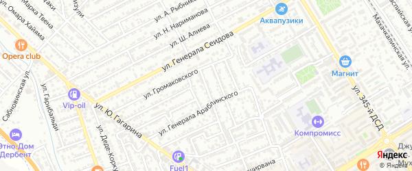Улица А.Дюма на карте Дербента с номерами домов