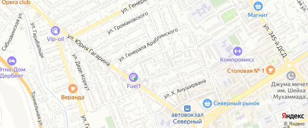 Офицерский переулок на карте Дербента с номерами домов