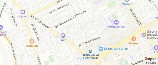Улица Имама Кули-Бека на карте Дербента с номерами домов