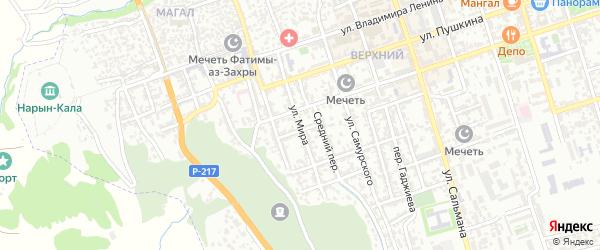 Улица Мира на карте Дербента с номерами домов