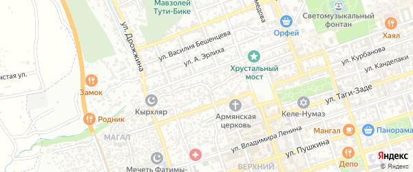 Улица 1 Магал на карте Дербента с номерами домов