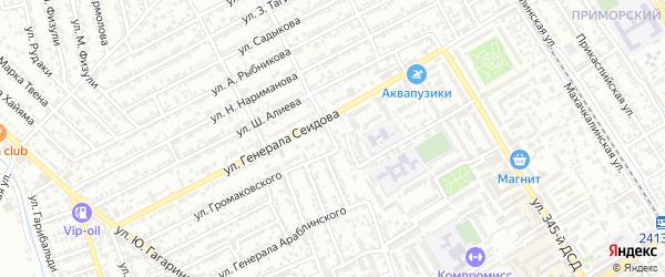 Улица Х.Авшалумова на карте Дербента с номерами домов